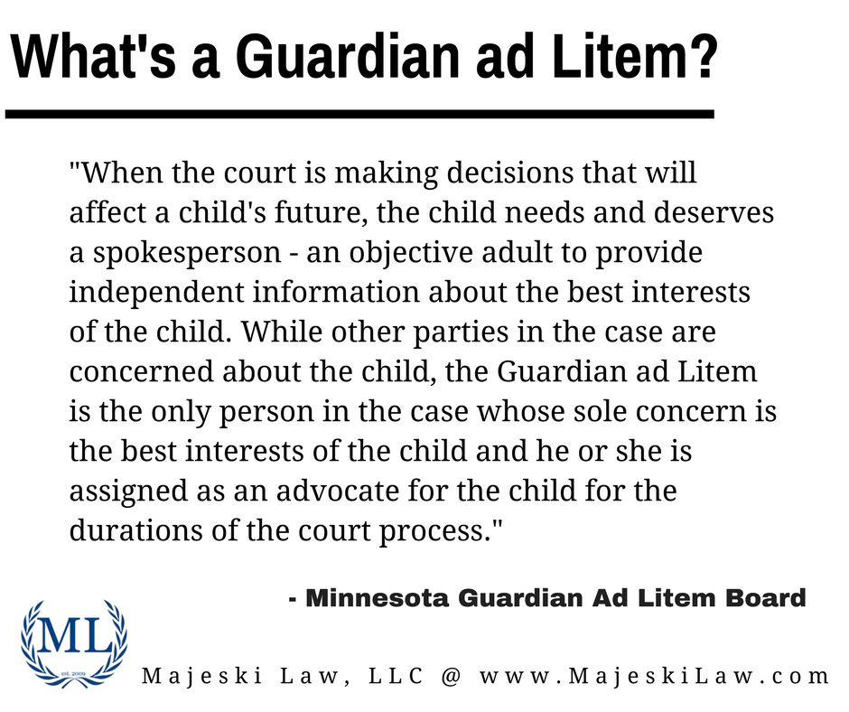 Guardian ad Litems – MN Family Law Attorney